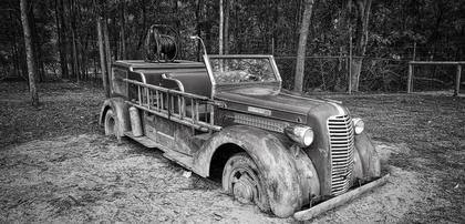 antikk brannbil