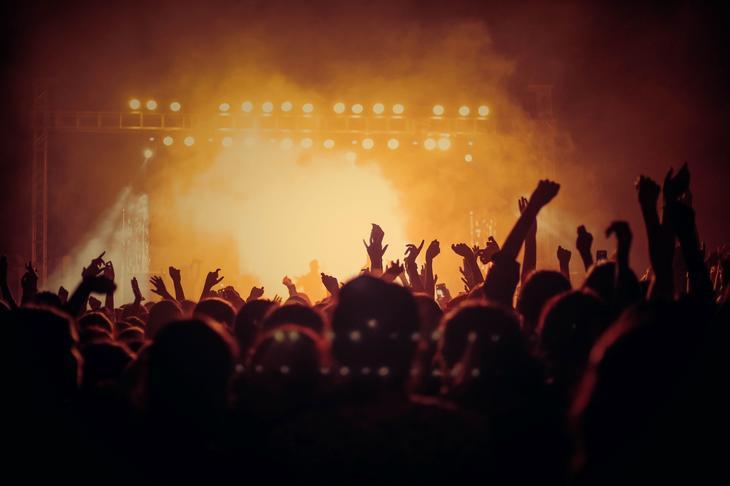 Personer på konsert
