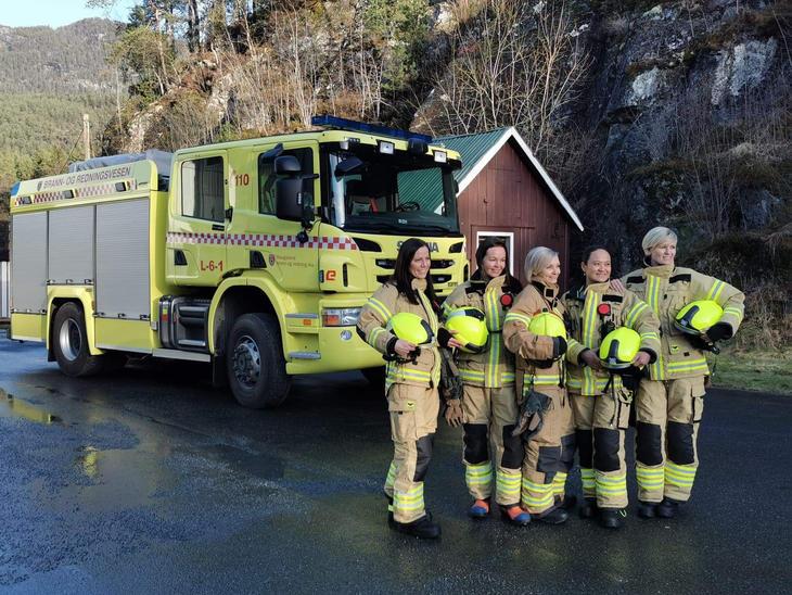Brannbil og brannkonstabler