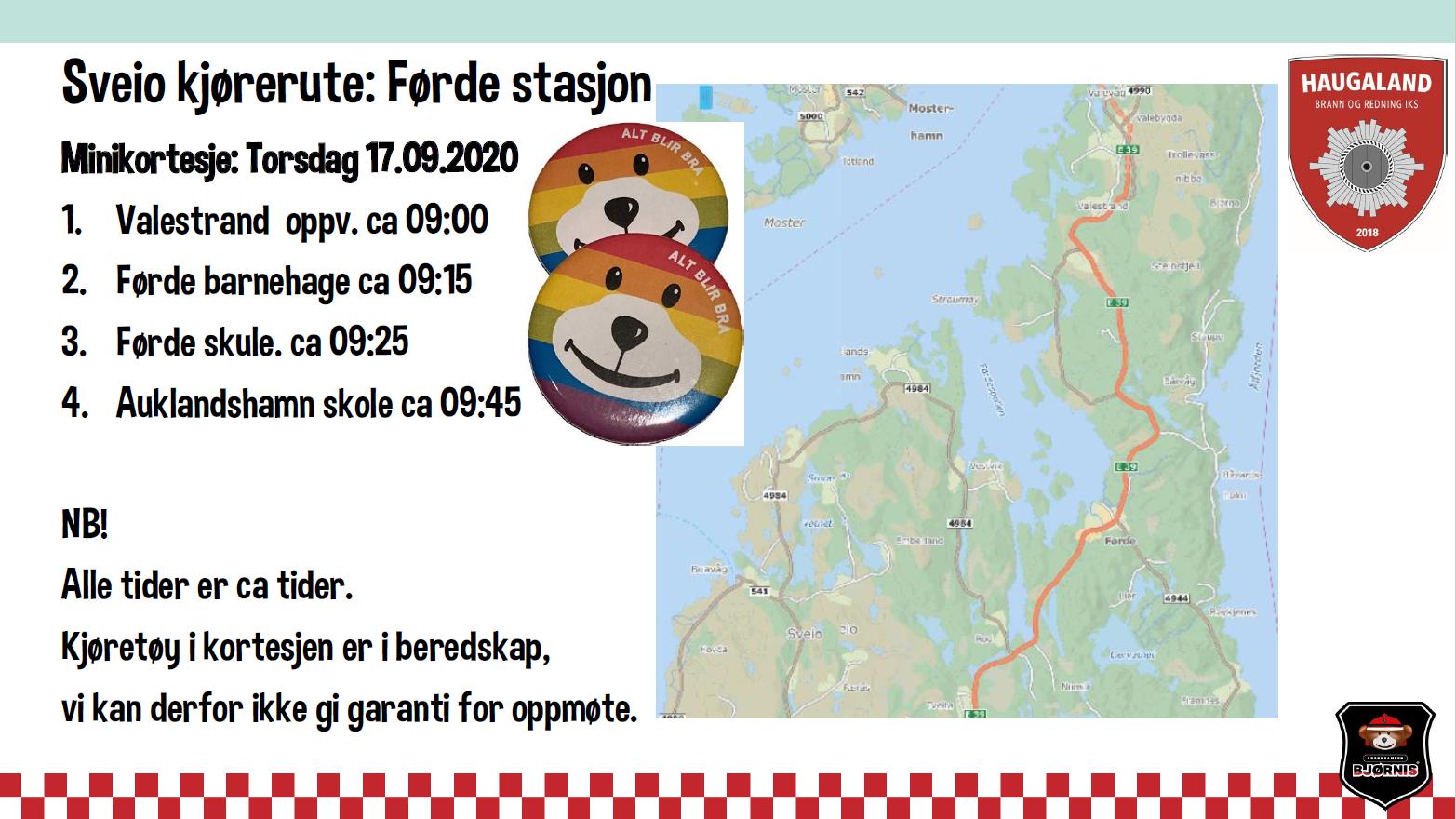tidspunkt for Førde stasjon